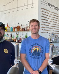Brewmaster Zach Beckwith, left, and co-owner Packy Deenihan at the new spot in Northwest Crossing.