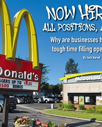 McDonalds offers a $1,500 bonus and an hourly wage as high as $18.25.