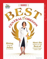The Source Weekly's Best of Central Oregon cover, featuring a phoenix theme.