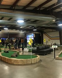 Indoor mini golf is one of the entertainment options at the new Walt Reilly's.