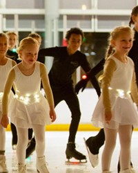 Young Bend Ice Figure Skating Club members prepare for an upcoming performance.