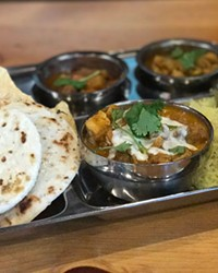 Thali meal served at Mantra