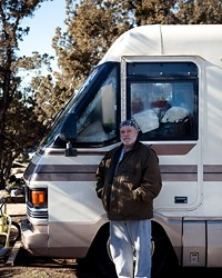 Mitch, 55, has lived on the land that needs to be cleared