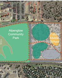 Officials from Bend-La Pine Schools say a proposed land swap will allow the district to site a new high school in SE Bend, at 15th and Knott.