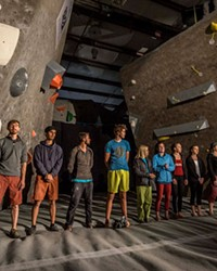 The Bend Boulder Bash brings together competitive climbers from around the area.