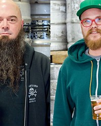 Boneyard's Mark Henion, left, and 10 Barrel Brewing's Bobby Jackson, right.