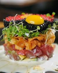 5 Fusion & Sushi Bar If you're looking for upscale sushi, this is your spot in Bend. Among its many accolades, the restaurant has been nominated for the prestigious James Beard award three times. The presentation here is as beautiful as it is delicious, and the atmosphere is modern, bright and inviting. 821 NW Wall St. #100, Bend 541-323-2328 5fusion.com
