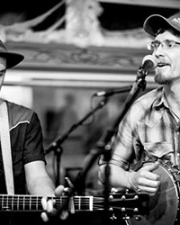 Join Joel Chadd and Dustin Byers as they perform their last gig as Trailer 31 at Dudley's Bookshop Cafe on 6/8.