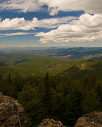 Top of Lookout Mountain, the highest peak in the Ochoco National Forest.