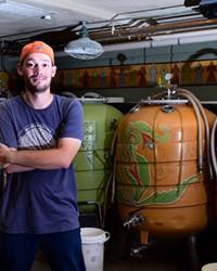 McMenamins' Vance Wirtz at the basement brewhouse.