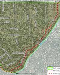 A map of the Septic to Sewer project in Bend.