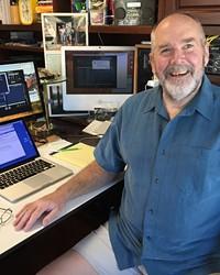 "Self-described ""schizoclectic"" radio programmer Jeff Cotton at his home studio."
