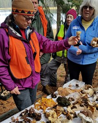Linda Gilpin, left, founder of the Central Oregon Mushroom Club, loves a good foraging adventure.