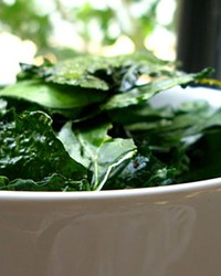 Before you hit that holiday party and its sinful snacks, might we suggest a bowl of fiber-rich kale to stave off the serious munchies?