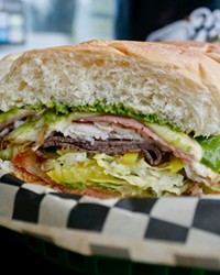 The multi-layer Murray and other sandwiches and soups are available at Hogan:s Hoagie Stop at River's Place in east Bend.