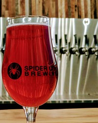 Spider City's taproom opens to the brewery.