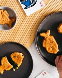 A popular street food in Korea, bungeo-ppang, are fish-shaped pastries with either sweet or savory filling.