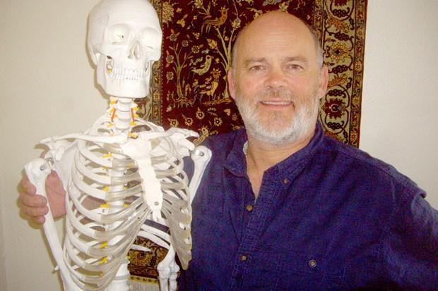"Matthew Williams with his demonstration partner, ""Slim."" - RICHARD SITTS"