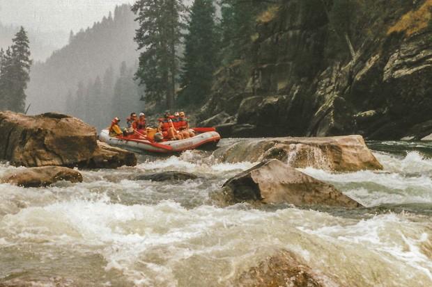 Chloa Ulrich sends a massive rapid on the Salmon River, Idaho, circa mid '90s. - COURTESY CHLOA ULRICH