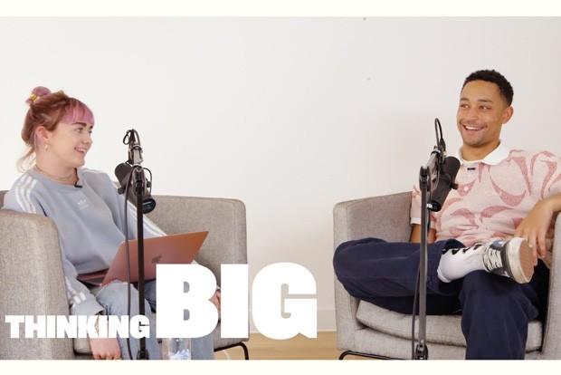 "English rapper Loyle Carner, right, guests on ""Thinking Big with Maisie Williams."" - COURTESY YOUTUBE"