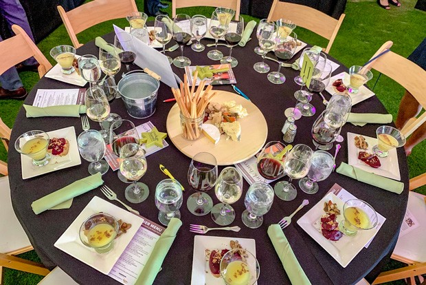 The dinner setup at the Grand Cru. - NANCY PATTERSON
