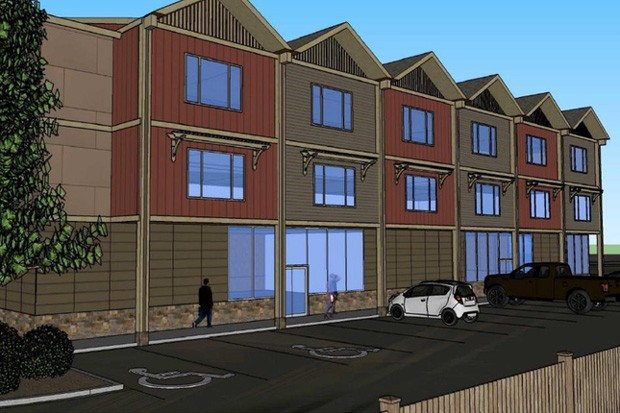 A draft rendering shows Housing Works' planned building, Phoenix Crossing, at Northeast Forbes Road in Bend. - HOUSING WORKS