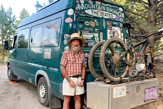 Retired from a career in the aerospace industry, Craig Bierly makes his home in a Sprinter he customized himself—often found parked on public lands. - NICOLE VULCAN