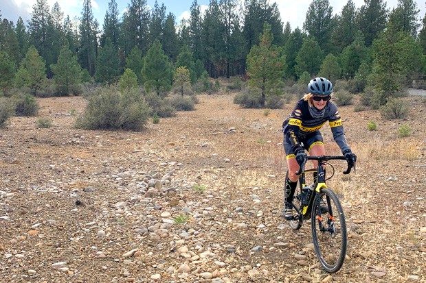 Kevin English from Dirty Freehub is off for a spin on the Mack Canyon route. - LINDA ENGLISH