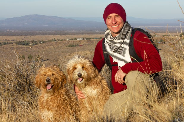 Local veteran Josh Rizzo, shown here with Benham and Bixby, has helped many other veterans with PTSD. - DARRIS HURST