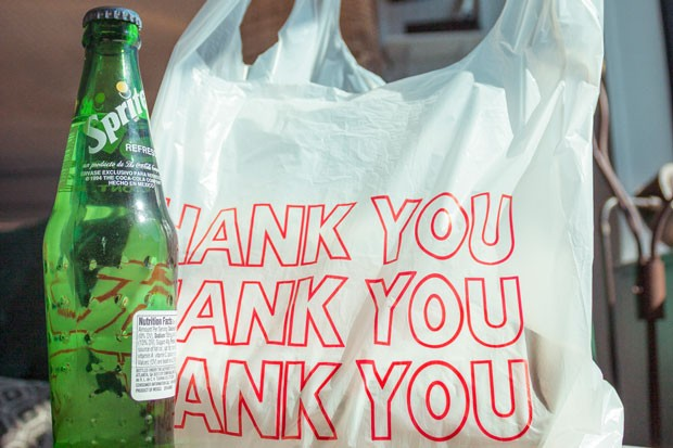 Thanks, but no thanks, plastic bag. You're so 2019. (Glass bottle, you can stay.) - GRIFFIN WOOLDRIDGE
