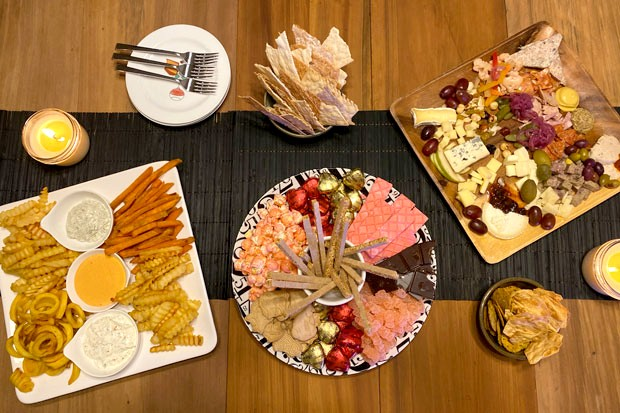 Why go with just a traditional meat-and-cheese charcuterie when you can add fries and a sweet plate too? - LISA SIPE