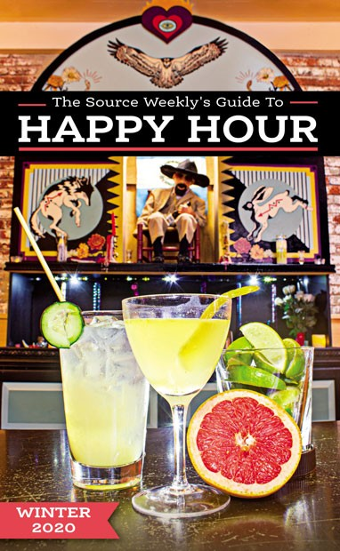 Get a look at those gorgeous cocktails! Just kidding… those are mocktails. A drinky trend this year involves booze-free - drinks that still let you sip with style—like the - ones featured on this Happy Hour Guide cover, from the mocktail menu at San Simon Bend. Check them out at 845 NW Tin Pan Alley in Bend. - DARRIS HURST