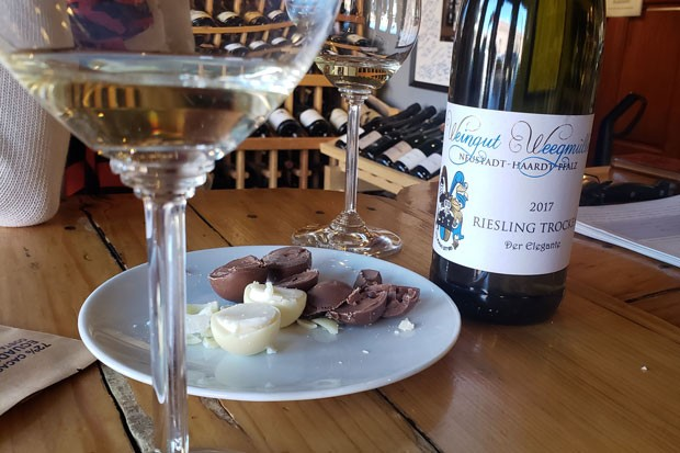 Nothing says love like local wine paired with local chocolates. - CAYLA CLARK