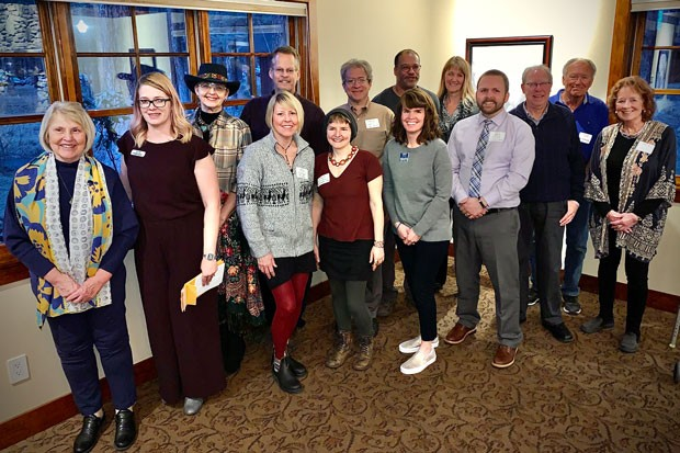 Representatives from local arts groups accepted grants from the Deschutes Cultural Coalition. - FUTURE FILMWORKS
