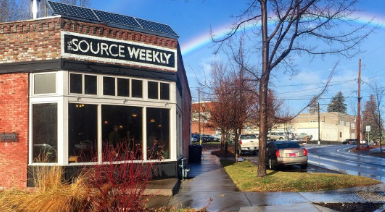 The Source's historic building in downtown Bend... where our staff will work again one day soon. - SOURCE