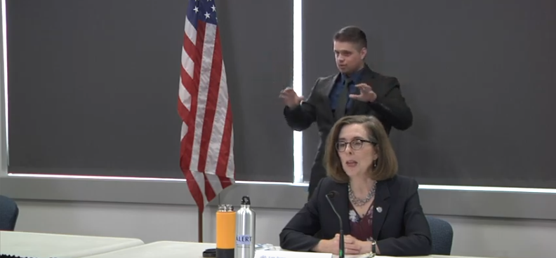 Gov. Kate Brown announced this morning that she will lift restrictions on elective surgeries and non-emergency health care in Oregon. - SCREENSHOT VIA OREGON PUBLIC HEALTH DIVISION'S YOUTUBE CHANNEL