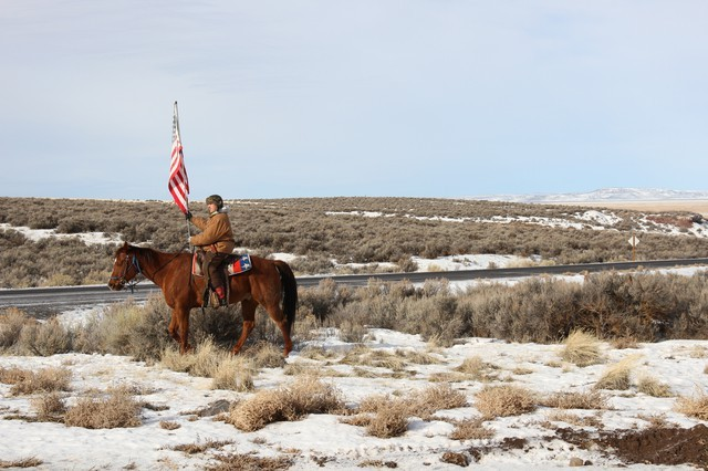 A scene from the occupation of the Malheur National Wildlife Refuge in 2016. - OREGON PUBLIC BROADCASTING