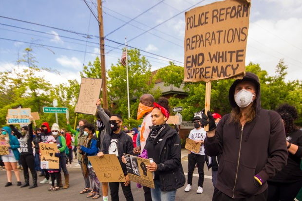 A shot from the peaceful protests in Bend on Saturday, June 6. - DARRIS HURST
