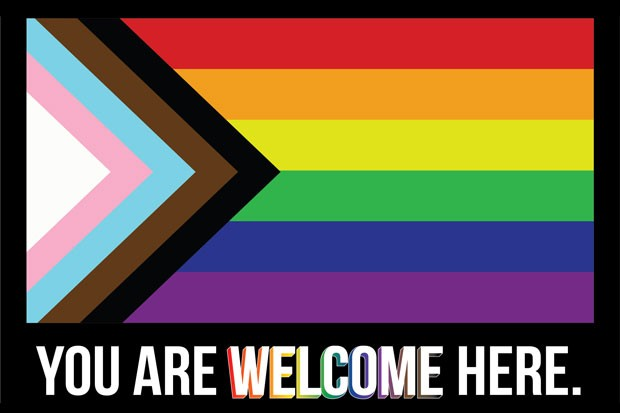 """The """"Progress"""" Pride Flag, designed to be inclusive to trans, LGBTQ+ and people of color. - COURTESY OF OUT CENTRAL OREGON"""