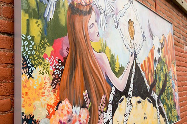 Artwork in Tin Pan Alley in downtown Bend, funded through the Bend Cultural Tourism Fund. - COURTESY VISIT BEND