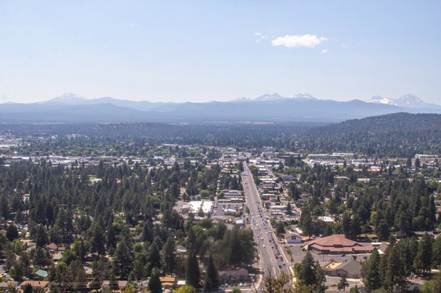 The summer heat is here! Taken from the top of Pilot Butte, Bend continues to be blanketed in its signature High Desert dry heat.  Gear up for another hot one. - KYLE SWITZER