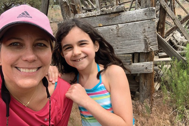 Selfie of Catalina Frank and her daughter, Emilie - SUBMITTED