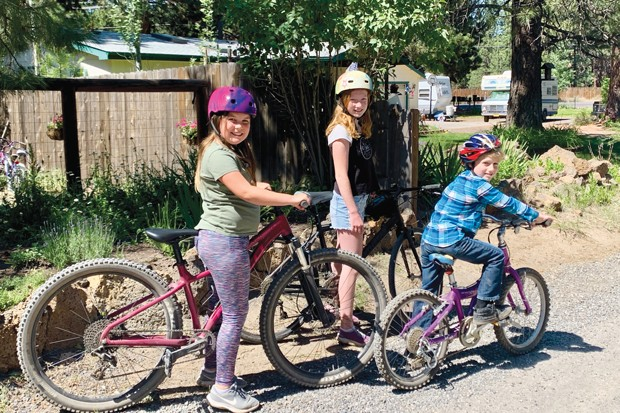 Kaia, Chloe & Peter - the DRW Bike Club - SUBMITTED