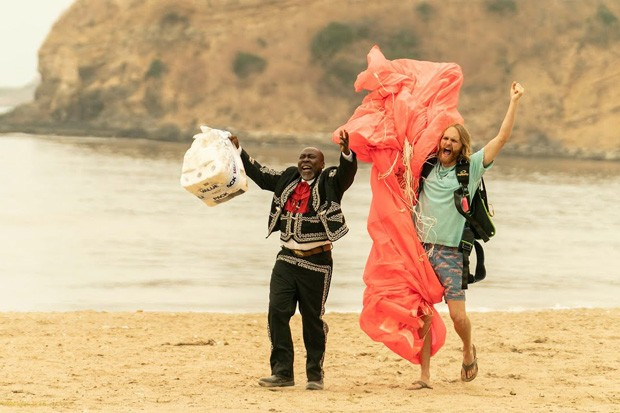 Is that man dressed like a mariachi on the beach and carrying a pack of toilet paper? Watch and see! - COURTESY AMC