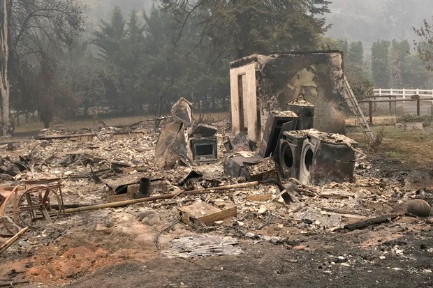 A scene from Vida, where multiple members of the Plews family—one of whom is fire chief for the Upper McKenzie Rural District Fire Department—lost their homes. - KIGER PLEWS