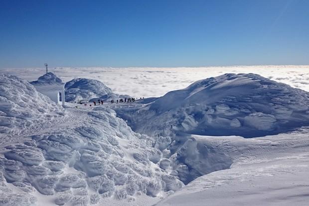 Mt. Bachelor summit at the peak of winter. - BRIAN CRIPE / WIKIMEDIA COMMONS