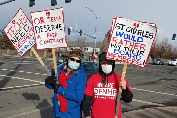 Techs at St. Charles have been negotiating for over a year for a new contract. - COURTESY OFNHP