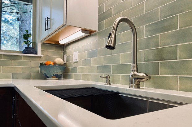 Subway tile backsplash with a quartz counter is all the rage in kitchens across the high desert and beyond, according to Hill. - COURTESY HANK HILL