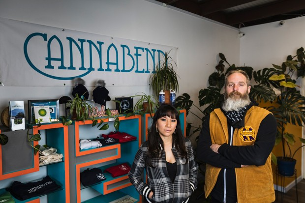 Lizette and Lyle Coppinger, owners of Cannabend. - PHOTO BY TYLER CAMERON @TERPCAM