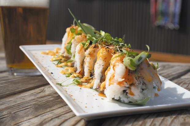 Kung Fu Shrimp Maki sushi roll. - DARRIS HURST